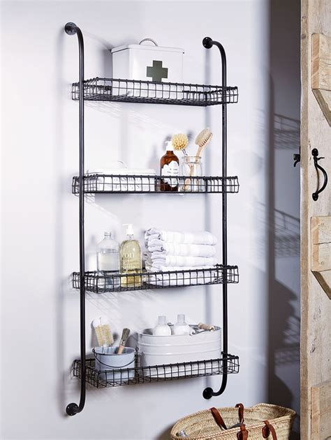 Wire Bathroom Shelves Best 25 Metal Shelving Ideas On Metal Shelves Industrial And Industry Look