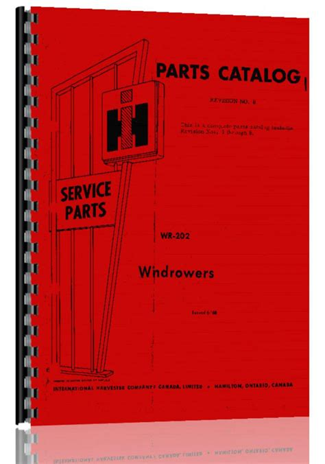 Ih Parts Search International Harvester 175 Windrower Parts Manual