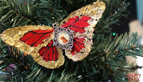 quintessentially christmas gilded butterfly ornaments