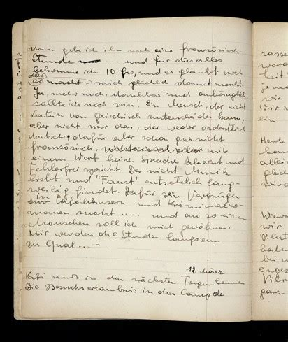 page from elizabeth kaufmann's diary | the holocaust