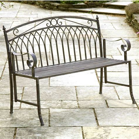 folding metal garden bench greenhurst versailles 2 seater bench antique grey on sale