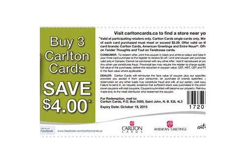 carlton cards coupons canada