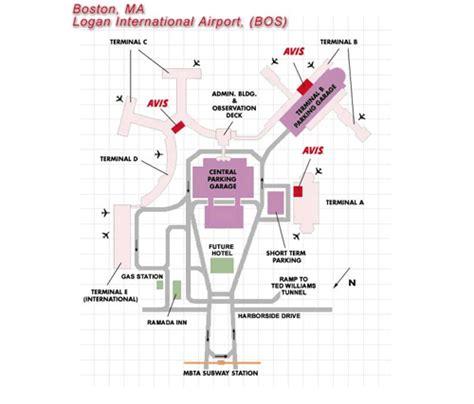 boston airport map boston airport map