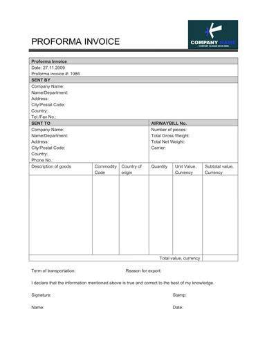 template proforma invoice free performa invoice invoice template word doc