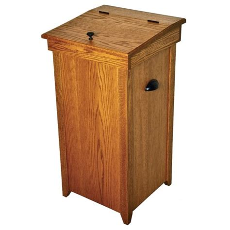 wooden kitchen garbage cans auction for amish wooden oak hinge top 30 gallon kitchen trash can buy webstore