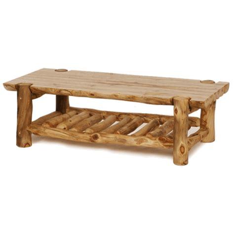 colorado aspen half log coffee table