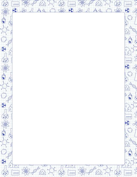 lined paper with science border printable chemistry border free gif jpg pdf and png