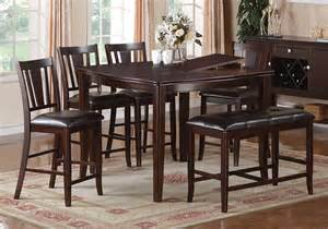 Bar Height Dining Table Set With Leaf 1
