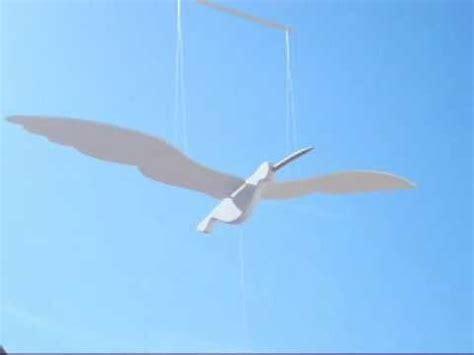 origami gabbiano gabbiano in volo modello oscillante sospeso in legno