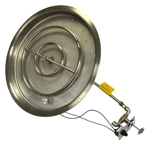 31 Quot Push Button Ignition Fire Pit Kit Woodlanddirect Com Gas Pit Kit