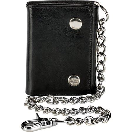 faded glory men's trifold 2 snap chain wallet walmart.com