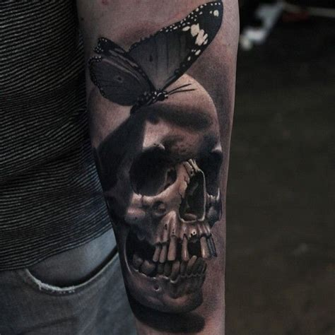 realistic skull tattoos 51 best realism skull images on skull