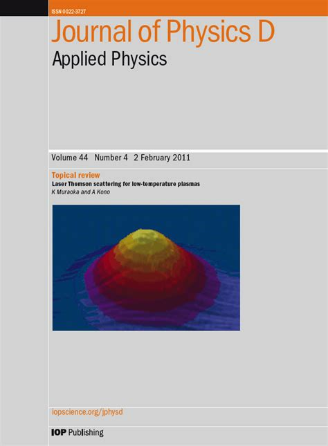 journal of applied physics template highlight 2011 at journal of physics d applied physics