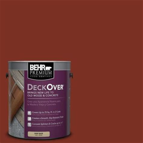 behr premium deckover 1 gal sc 330 redwood wood and