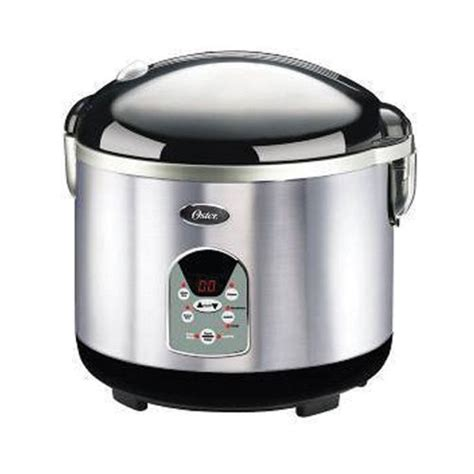 oster kitchen appliances oster smart digital 20 cup rice cooker brush stainless