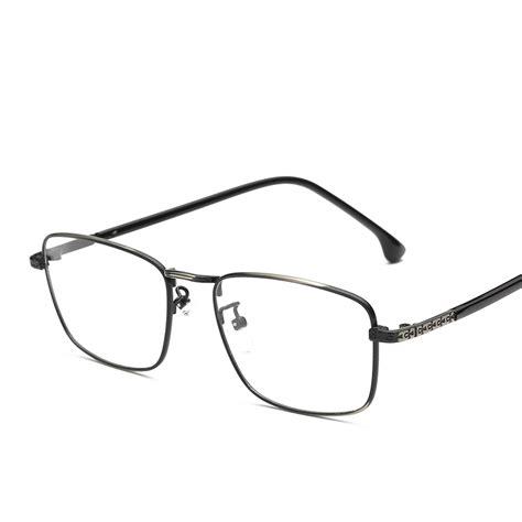 metal frame square lens glasses aliexpress buy mens eyewear prescription thin metal