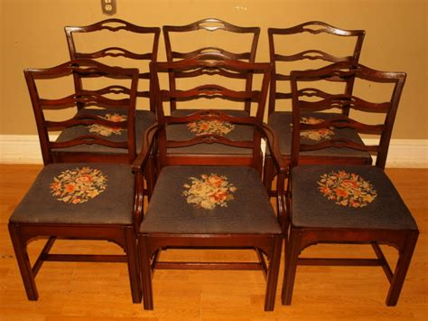 antique hathaway carved mahogany dining room chairs nr