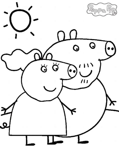 christmas colouring pages peppa pig peppa pig coloring pages and sheets