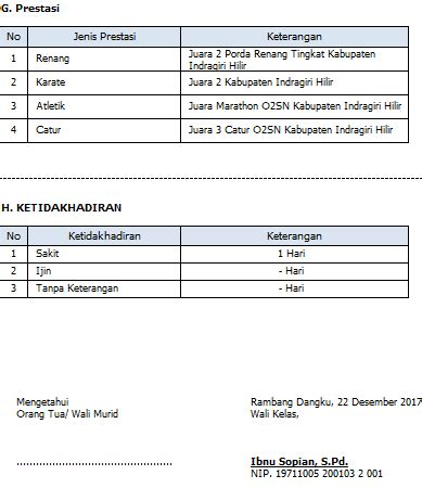 format raport k13 format raport k13 smp revisi 2017 info guru terbaru