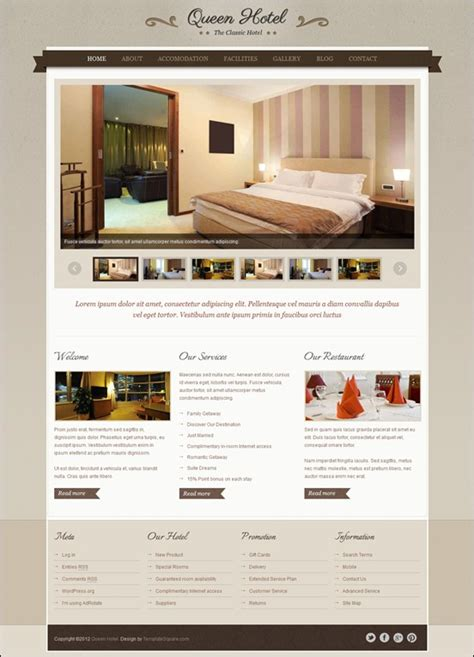 themeforest queen 20 great wordpress hotel theme collection tripwire magazine