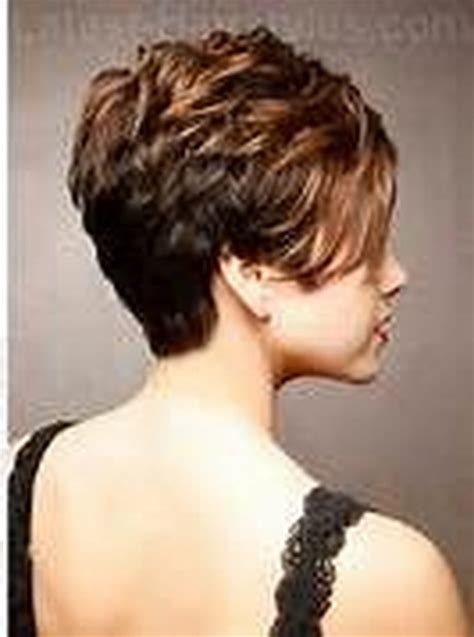 front and back views of chopped hair back view of short hairstyles