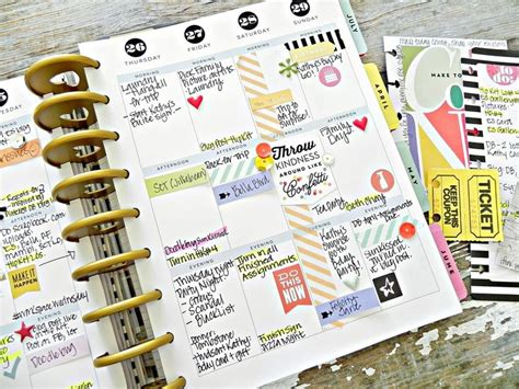 Make And Take Ideas From Cha 365 Days Of Crafts - a photoless create 365 happy planner weekly spread by
