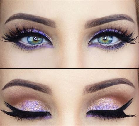 what color eyeliner for green stunning purple eye makeup best for green purple