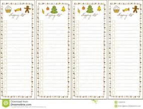 christmas shopping list stock images image 12023124
