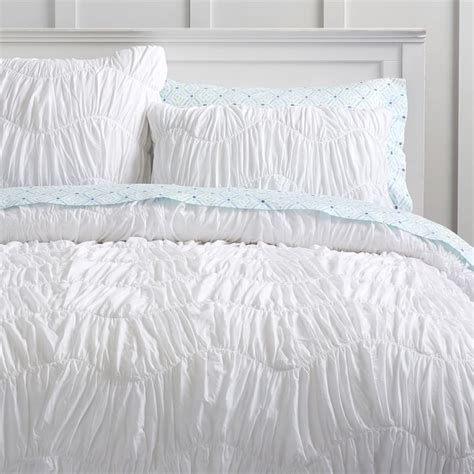 white ruched bedding white ruched duvet cover queen 2677