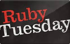 Ruby Tuesday Gift Card Special - ruby tuesday gift card discounts comparison chart
