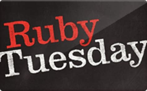 ruby tuesday gift card discount 6 00 off - Ruby Tuesday Gift Card Discount