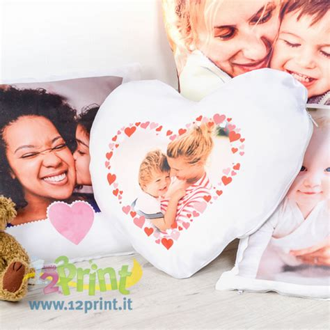 cuscino a cuore con foto prezzo cuscino cuore da personalizzare con foto e testi