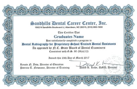 new collection of dental assistant certification