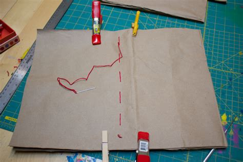 How Do You Make A Paper Bag Book Cover - brown paper bag journal tutorial crafting a green world