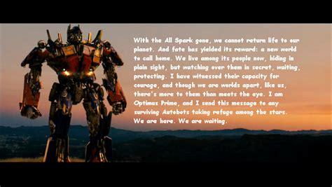 optimus prime quotes transformers 2 optimus prime quotes quotesgram