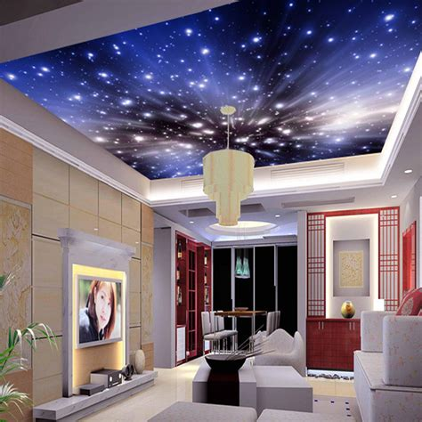 cosmic bedroom 3d custom wallpaper murals cosmic star ceiling fresco ceiling custom bedroom sofa