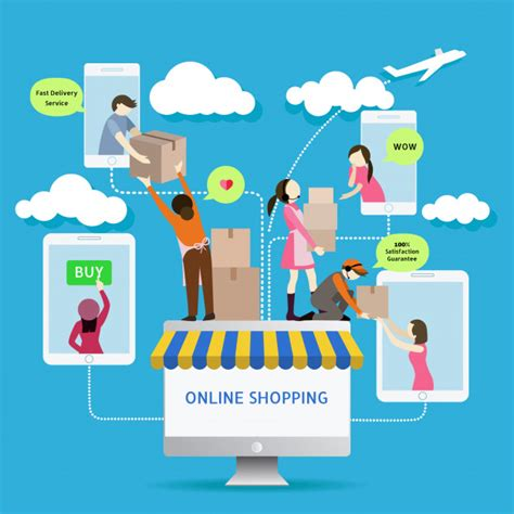 background online shop flat style mobile online store e commerce icons