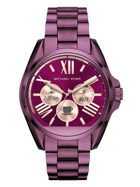 Michael Kors Smartwatch Mkt5011 100 Original 1 michael kors access bradshaw purple smartwatch mkt5017