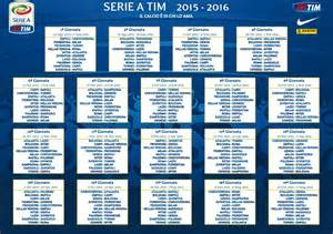 Calendario 2018 Serie A Calendario Serie A 2015 2016 Serie A Tim