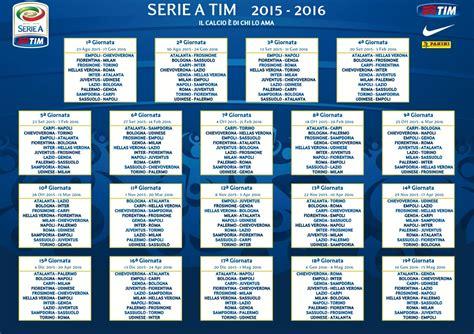 Calendario Serie A Tim Pdf Calendario Serie A 2015 2016 Serie A Tim