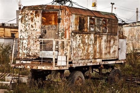 How To Find Blueprints Of Your House Old Rusty Wagon Wheel Vehicle On Industrial Building