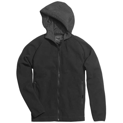 surplus warm soft fleece hooded jacket windproof hoodie mens sweatshirt black ebay