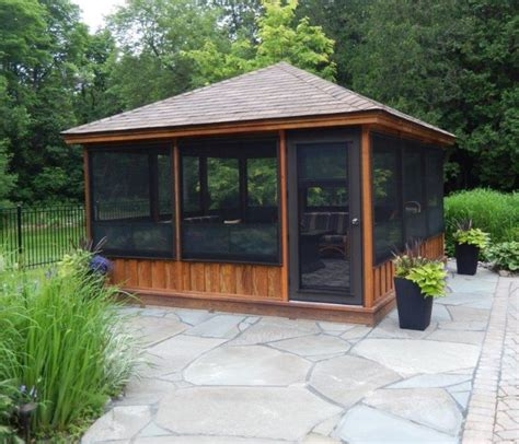screen gazebo best 25 screened gazebo ideas on screened in