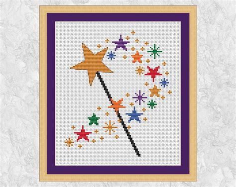 magic wand pattern magic wand cross stitch pattern printable by