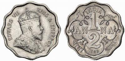 anémone cing rare coins of british india