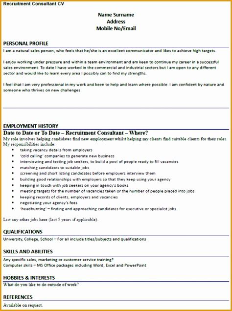 7 recruitment consultant resume sle free sles