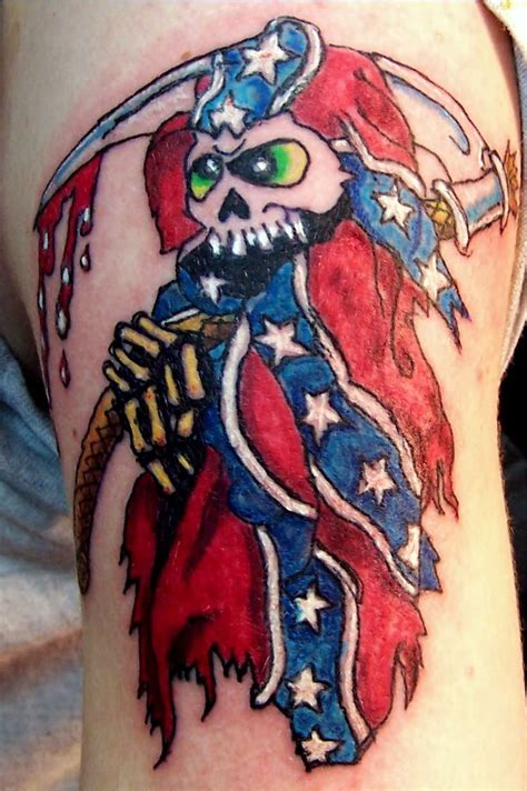 rebel flag with deer skull tattoo images