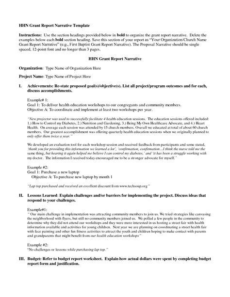 Best Photos Of Grant Report Template Sle Grant Narrative Report Format Sle Grant Grant Report Template