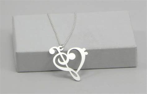 Treble Clef Pendant Necklace Kalung Musik Kunci G note necklace bass clef necklace treble clef necklace gift gift for musician