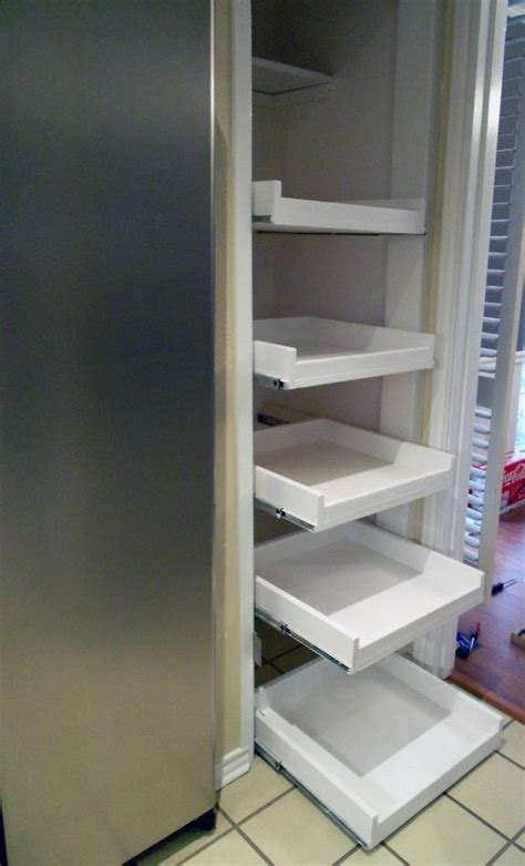 Slide Out Shelves Shelves And Build Your Own On Pinterest How To Build Pantry Shelves